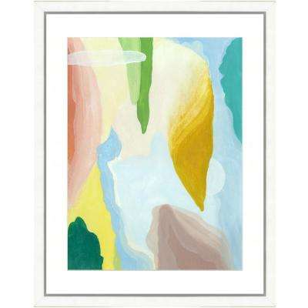 """Pastel watercolor VI"" Framed Archival Paper Wall Art (26x32 in full size)"