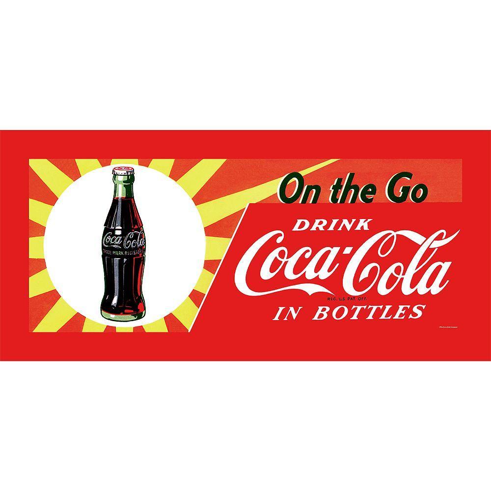Trademark Fine Art 12 in. x 30 in. On the Go Coke Canvas Art