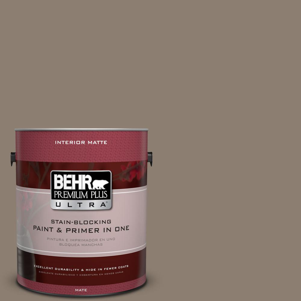 1 gal. #BNC-36 Restful Brown Matte Interior Paint