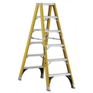Louisville Ladder 6 ft. Fiberglass Twin Step Ladder with 375 lbs. Load Capacity... by Louisville Ladder