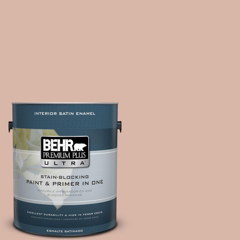 BEHR Premium Plus Ultra 1-gal. #S190-3 Sedona Pink Satin Enamel Interior Paint