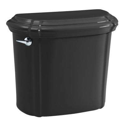 Portrait 1.6 GPF Single Flush Toilet Tank Only in Black Black