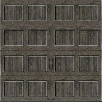 Gallery Collection 8 ft. x 8 ft. 18.4 R-Value Intellicore Insulated Solid Ultra-Grain Slate Garage Door
