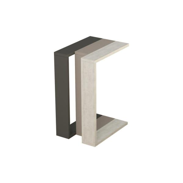 Ada Home Decor Stanley Anthracite and Light Mocha Modern Side Table