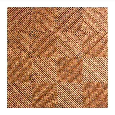 Quattro - 2 ft. x 2 ft. Lay-in Ceiling Tile in Cracked Copper