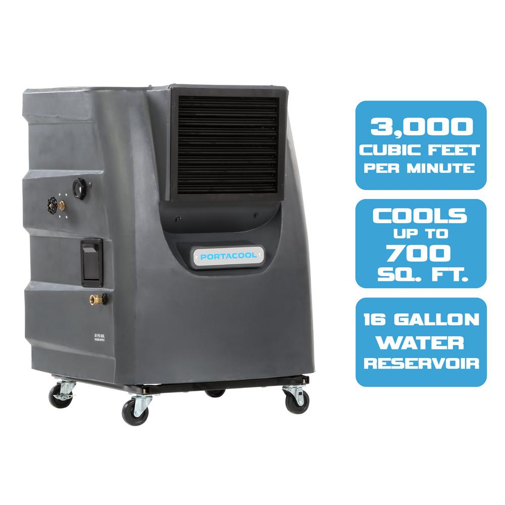 Cyclone 130 3000 CFM 2-Speed Portable Evaporative Cooler for 700 sq.