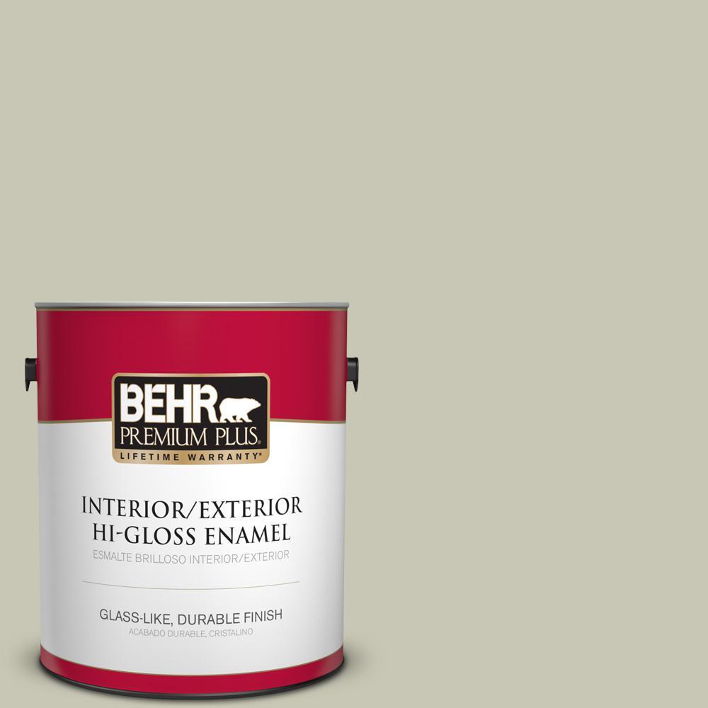 1 gal. #T18-10 Wabi-Sabi Hi-Gloss Enamel Interior/Exterior Paint