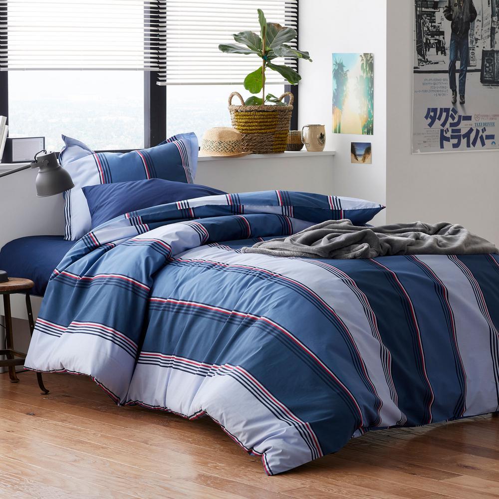 The Company Store Sullivan 2-Piece 200-Thread Count Cotton Percale Twin XL Duvet Cover Set