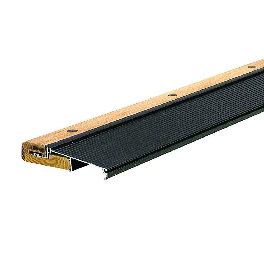 Adjustable 5.625 in. x 45 in. Bronze Aluminum and Hardwood Sills-Inswing Door Threshold