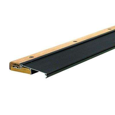Adjustable 5-5/8 in. x 73 in. Brown Aluminum and Hardwood Inswing Threshold