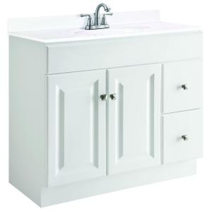 Click here to buy Design House Wyndham 36 inch W x 21 inch D Unassembled Vanity Cabinet Only in White... by Design House.