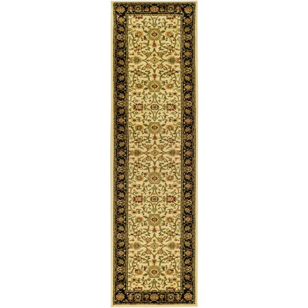 Safavieh Lyndhurst Ivory/Black 2 ft. 3 in. x 18 ft. Runner