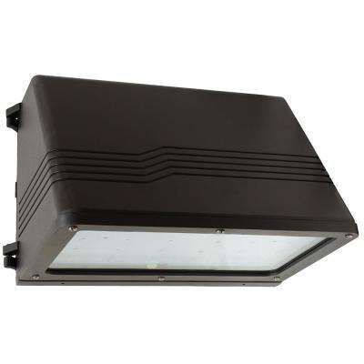 37-Watt Bronze Outdoor Integrated LED Full Cutoff Wall Pack Light