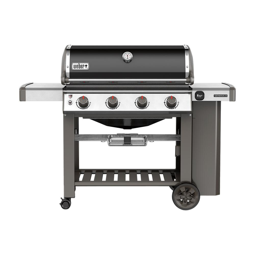 Weber Genesis II E-410 4-Burner Propane Gas Grill in Black with Built-In Thermometer