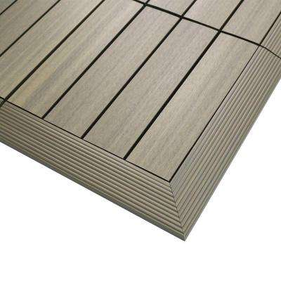 1/6 ft. x 1 ft. Quick Deck Composite Deck Tile Outside Corner Trim in Roman Antique (2-Pieces/Box)