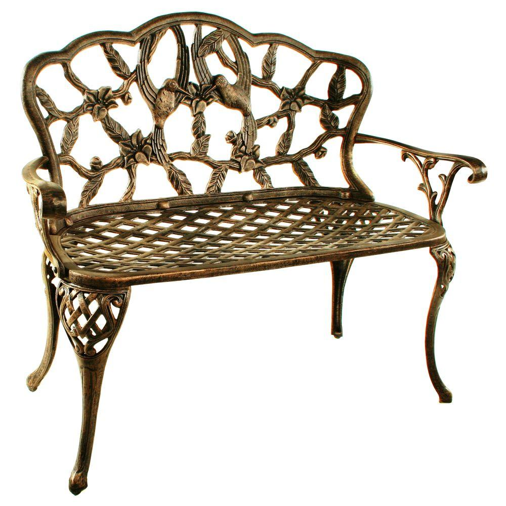 Oakland Living Hummingbird Loveseat Patio Bench-3206-AB ... on Ab And Outdoor Living id=17877