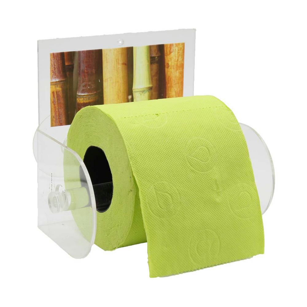 Java Toilet Paper Holder 1 Roll Suction Mounted In 100 Acrylic Brown Beige Green Multi