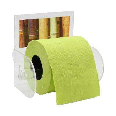 Java Toilet Paper Holder Paper 1-Roll Holder Suction Mounted in 100% Acrylic