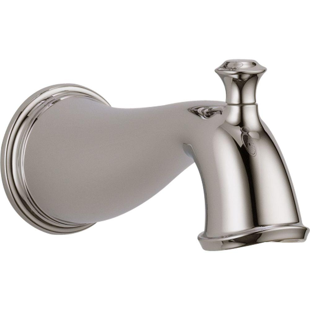 Cassidy Pull-Up Diverter Tub Spout in Polished Nickel