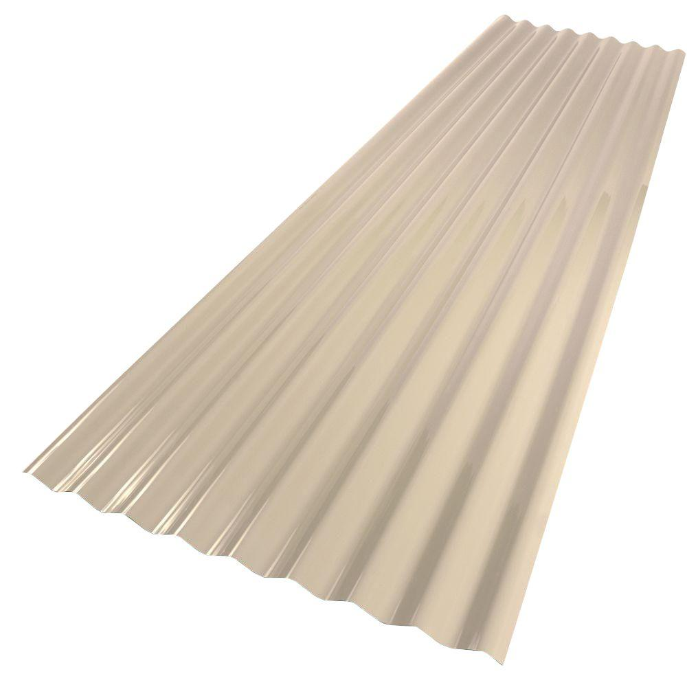 Palruf 26 in  x 8 ft  PVC Roofing Panel Tan