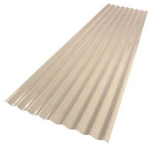 Palruf 26 in x 8 ft PVC Roofing Panel Tan The