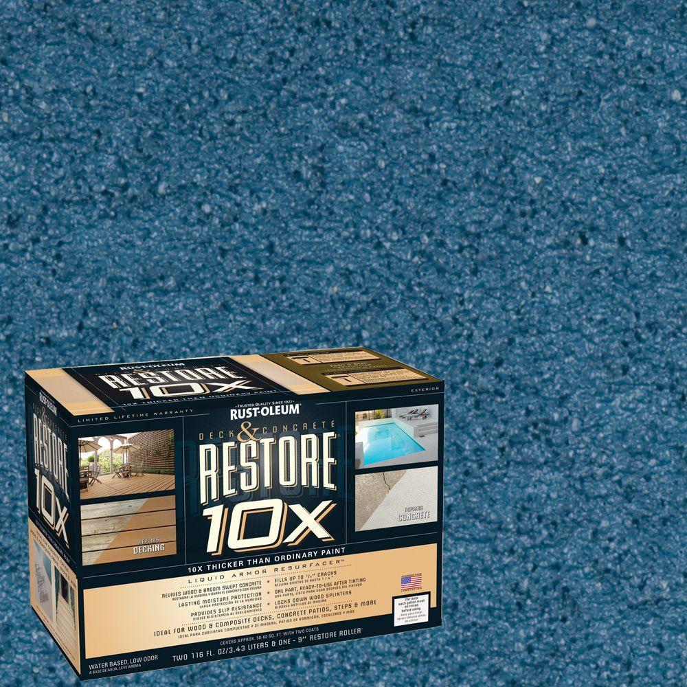 Rust-Oleum Restore 2-gal. Lagoon Deck and Concrete 10X Resurfacer