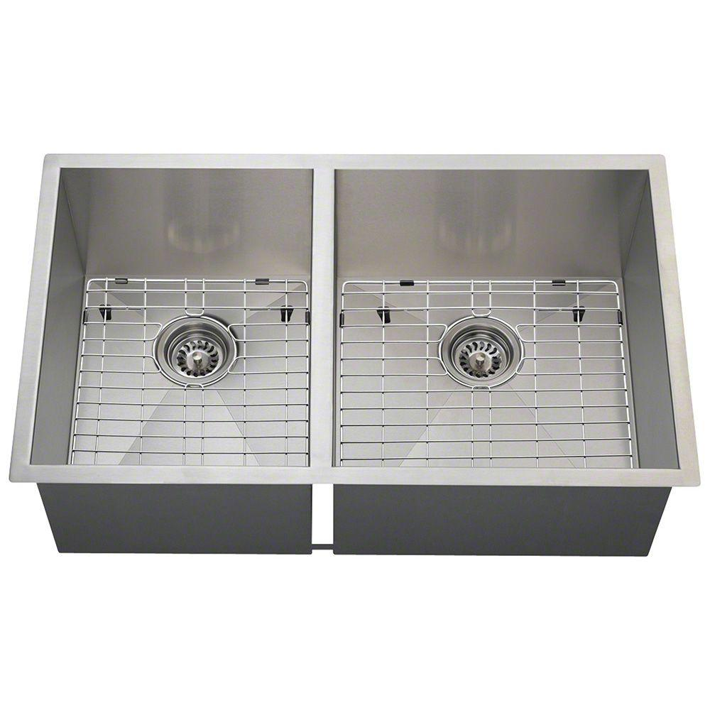 Polaris Sinks AllinOne Undermount Stainless Steel In Right - Commercial bathroom sinks stainless steel
