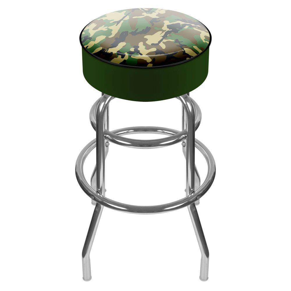 Trademark Hunting Camo 31 in. Chrome Swivel Cushioned Bar Stool  sc 1 st  The Home Depot & Trademark Hunting Camo 31 in. Chrome Swivel Cushioned Bar Stool ... islam-shia.org