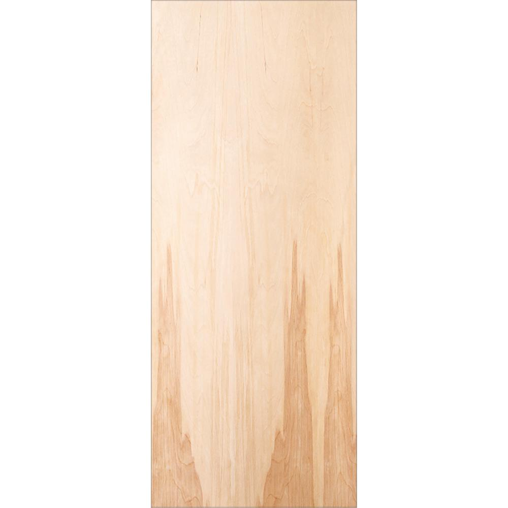 32 in. x 80 in. Birch Unfinished Flush Wood Interior Door