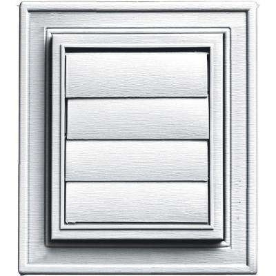 Square Exhaust Siding Vent #001-White