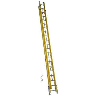 40 ft. Fiberglass D-Rung Leveling Extension Ladder with 300 lb. Load Capacity Type IAA Duty Rating