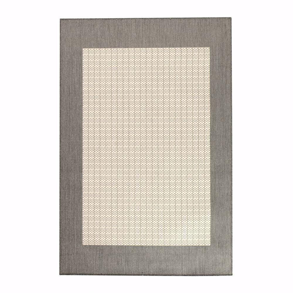 Home Decorators Collection Checkered Field Gray and White 5 ft. 3 in. x 7 ft. 6 in. Area Rug
