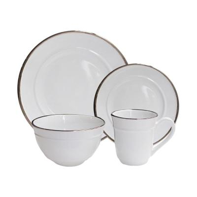 16-Piece White Lucienne Dinnerware Set