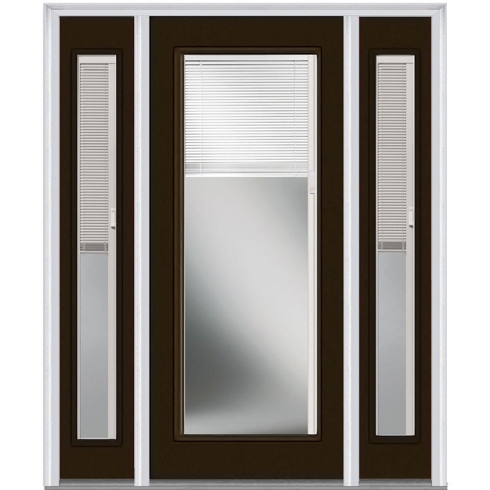 Mmi door 60 in x 80 in internal blinds right hand - 32x80 exterior door rough opening ...