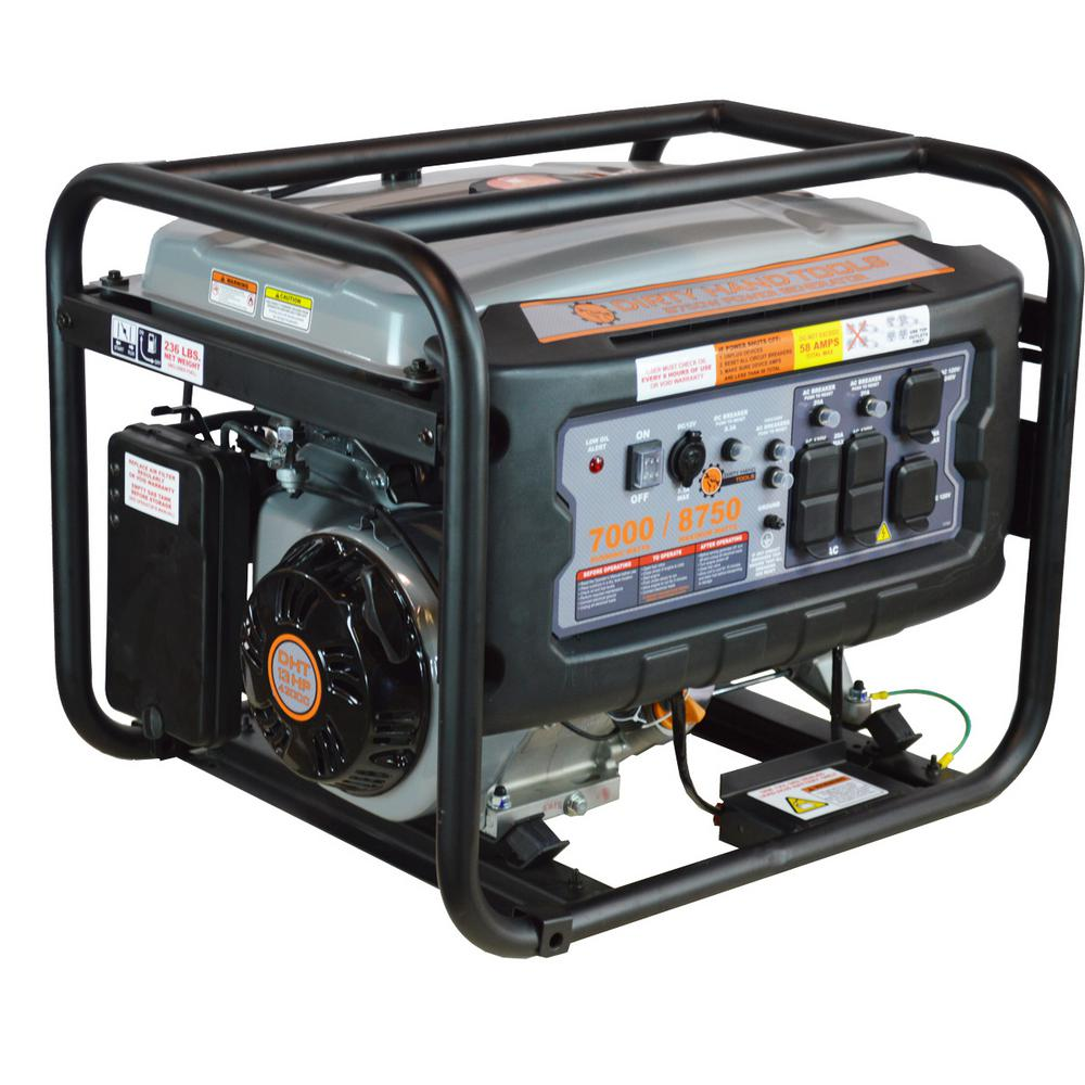 7,000-Watt Gas Powered Electric Start Portable Generator