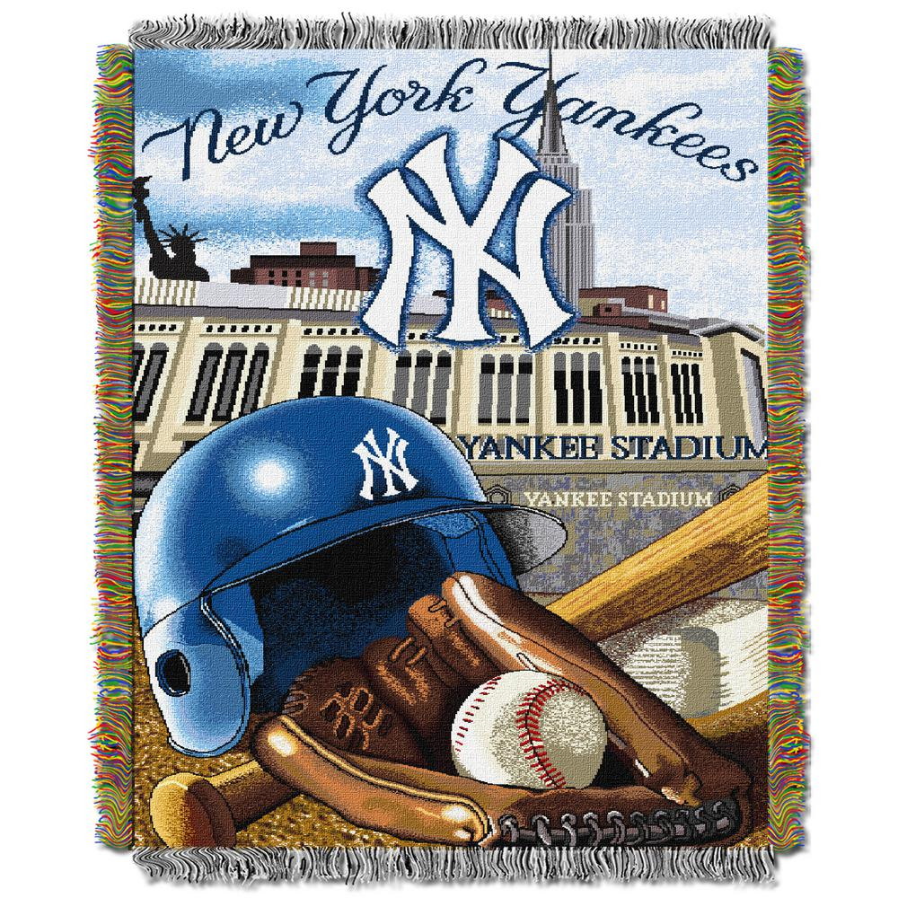 d981a05dc0a Yankees Multi Color Home Field Advantage Tapestry Throw ...