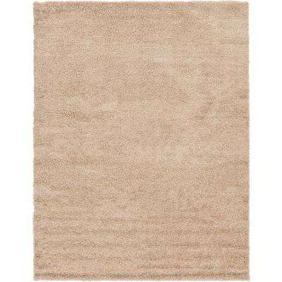 Solid Shag Taupe 9 Ft. X 12 Ft. Area Rug