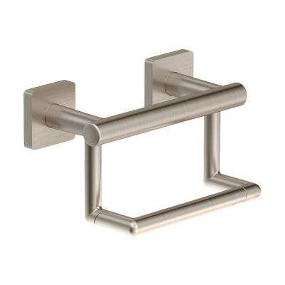Duro Wall-Mounted Toilet Paper Holder in Satin Nickel