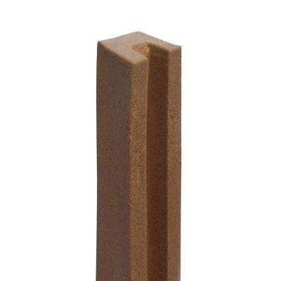 5 in. x 5 in. x 8-1/2 ft. Ashland Red Cedar Composite Fence End Post