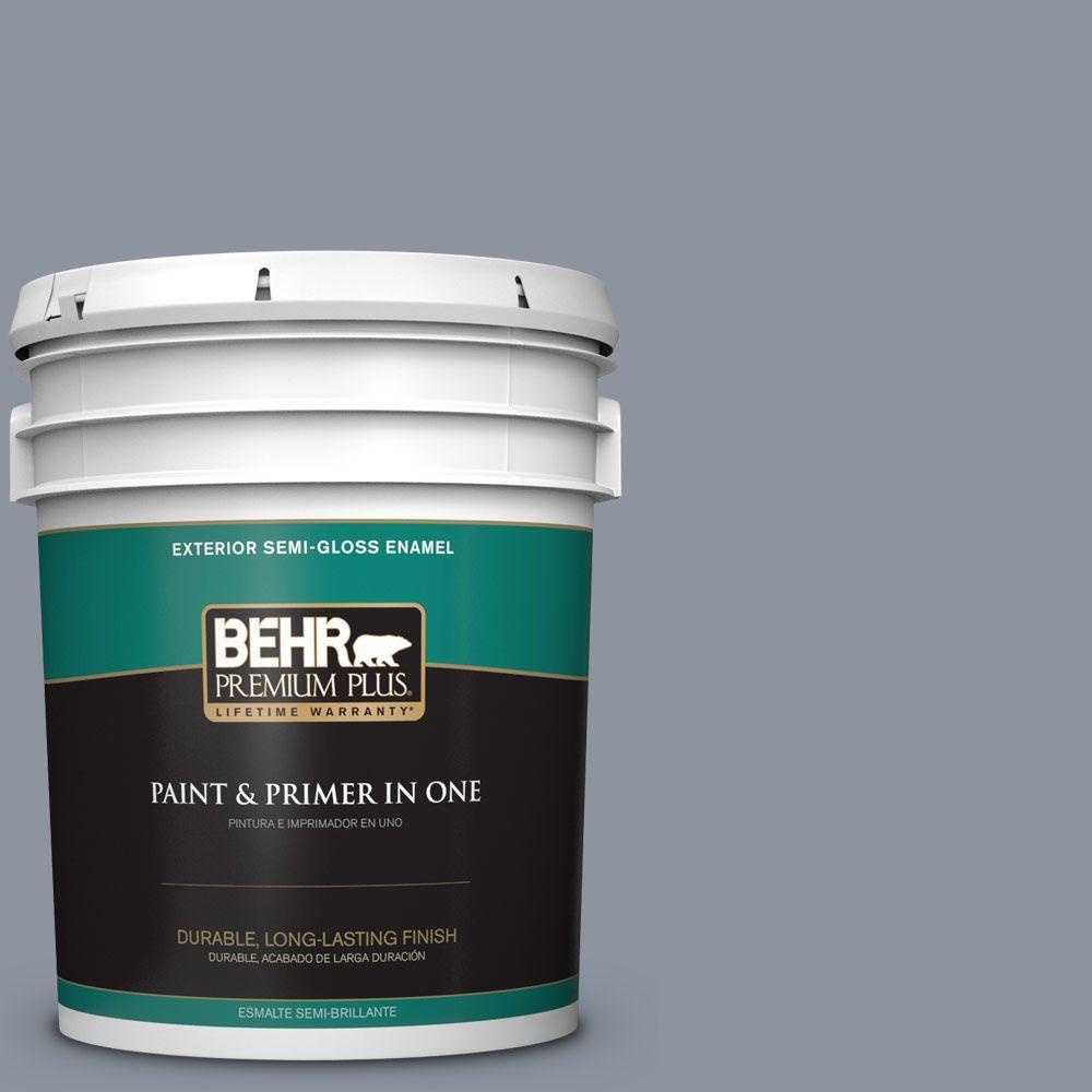 5-gal. #BXC-88 Cool December Semi-Gloss Enamel Exterior Paint