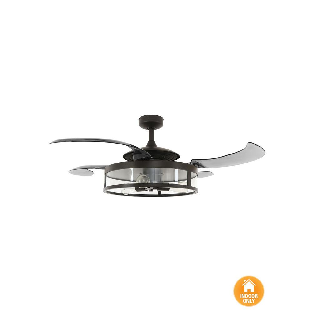 Fanaway Classic 48 in. Indoor Antique Black and Smoke AC Ceiling Fan ...