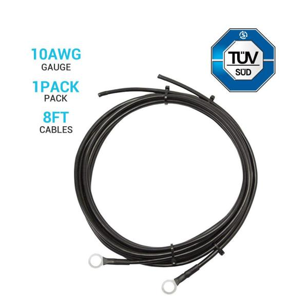 10 AWG Wire Copper Tray Cable  Connect Charge Controller and Battery RENOGY 8ft