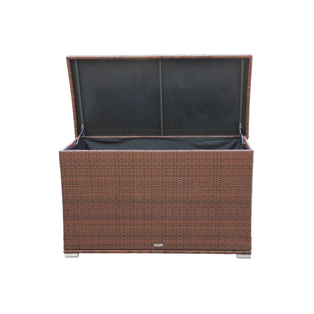 Kate 170 Gal. Wicker Patio Storage Deck Box