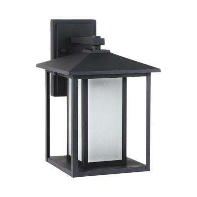 Hunnington Black Outdoor Integrated LED Wall Mount Lantern