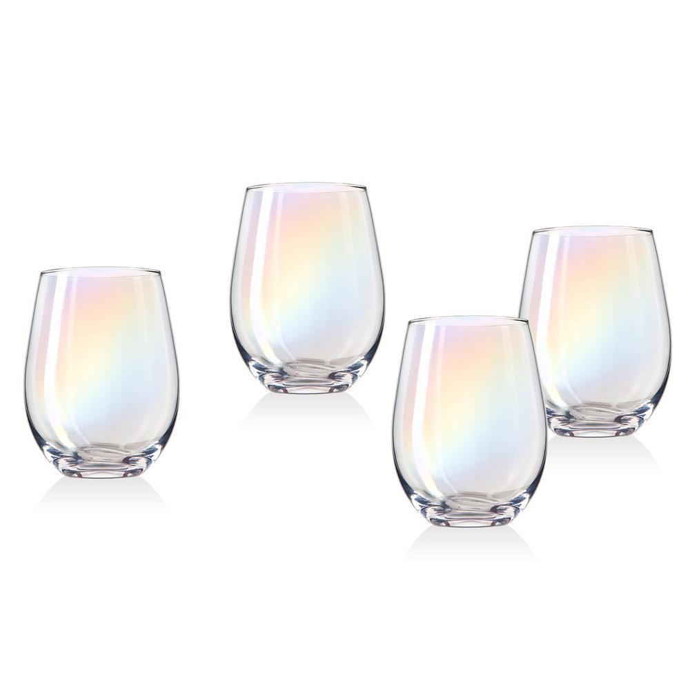Monterey 19 oz. Crystal Stemless Wines (Set of 4)