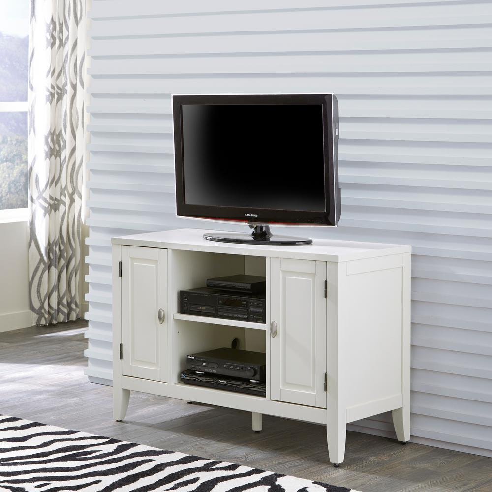 Home styles newport tv stand in white 5515 09 the home depot home styles newport tv stand in white geotapseo Image collections