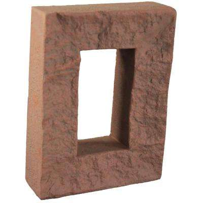 Redstone 7-7/8 in. x 6 in. x 1-7/8 in. Faux Outlet Cover