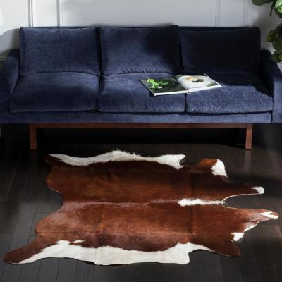Cow Hide Brown/White 4 ft. x 6 ft. Area Rug