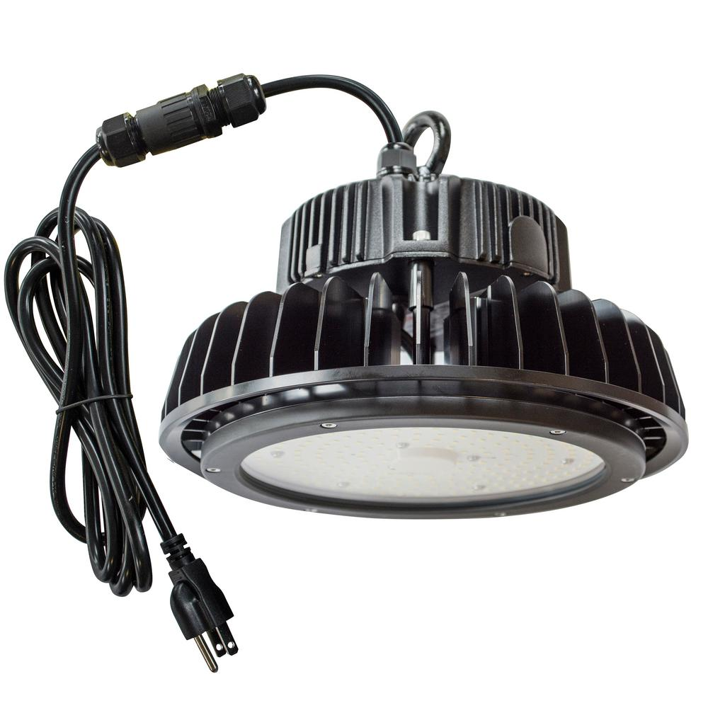 Residential Garage Led Lights: Lithonia Lighting 2 Ft. Black Indoor LED Garage Light With