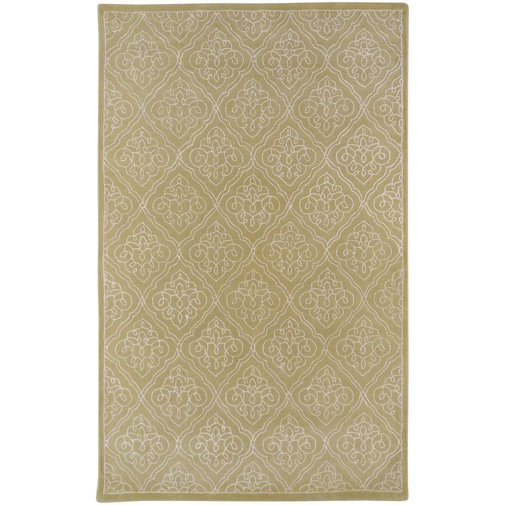 Surya Candice Olson Pale Green 3 ft. 3 in. x 5 ft. 3 in. Area Rug